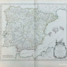 Arte: AÑO 1750 - ROBERT DE VAUGONDY - HISPANIA ANTIQUA - MAPA ESPAÑA ANTIGUA - CARTOGRAFÍA ATLAS. Lote 194679845