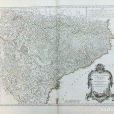 Arte: AÑO 1752 - ROBERT DE VAUGONDY MAPA DE ESPAÑA CORONA DE ARAGÓN, NAVARRA Y PRINCIPADO DE CATALUÑA . Lote 194680095