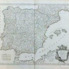 Arte: AÑO 1750 - ROBERT DE VAUGONDY MAPA DE LOS REINOS DE ESPAÑA Y PORTUGAL - CARTOGRAFÍA ATLAS. Lote 194680685