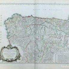 Arte: AÑO 1752 - ROBERT DE VAUGONDY MAPA DE ESPAÑA PARTE SEPTENTRIONAL CORONA DE CASTILLA. Lote 194680847