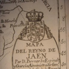 Arte: MAPA DEL REINO DE JAÉN ,ORIGINAL, MADRID, AÑO 1778, ESPINALT/ PALOMINO , ATLANTE ESPAÑOL,. Lote 194719863