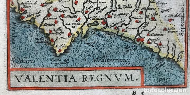 Arte: Mapa de Valencia, 1602. A.Ortelius - Foto 3 - 195035105