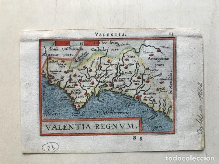 Arte: Mapa de Valencia, 1602. A.Ortelius - Foto 6 - 195035105