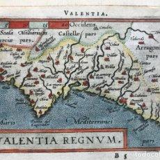 Arte: MAPA DE VALENCIA, 1602. A.ORTELIUS. Lote 195035105