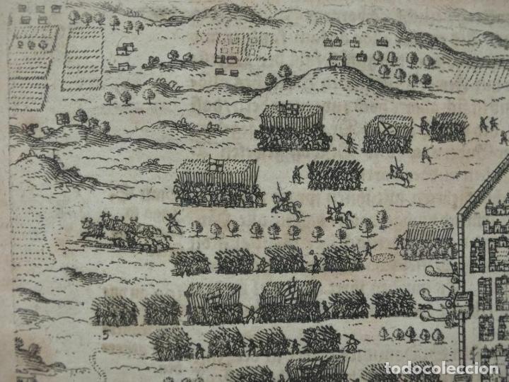 Arte: Plano y vista de Santo Domingo (R. Dominicana, América), 1655. De Bry/Merian/Gottfried - Foto 3 - 195273377