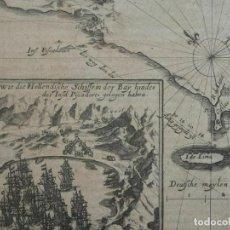 Arte: PLANO Y VISTA DEL PUERTO DE EL CALLAO DE LIMA (PERÚ), 1655. DE BRY/MERIAN/GOTTFRIED. Lote 195277355