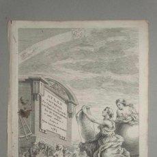 Arte: FRONSTISPICIO DE ATLAS UNIVERSAL, 1787, PHILIPPE DE PRÉTOT. Lote 195283211