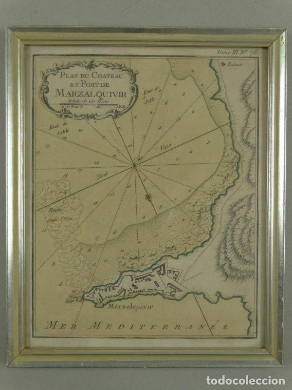 PLANO DE LA FORTALEZA Y PUERTO DE MARZALQUIVIR (ARGELIA, ÁFRICA), 1764. NICOLAS BELLIN (Arte - Cartografía Antigua (hasta S. XIX))