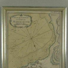 Arte: PLANO DE LA FORTALEZA Y PUERTO DE MARZALQUIVIR (ARGELIA, ÁFRICA), 1764. NICOLAS BELLIN. Lote 195324127