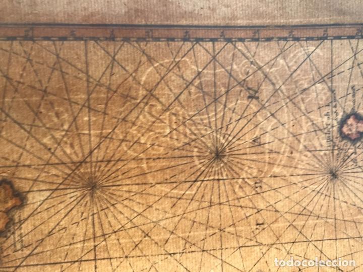 Arte: Carta náutica de las islas Canarias (España) y Madeira (Portugal), 1727. Van der Aa/Mandelslo - Foto 11 - 195571896