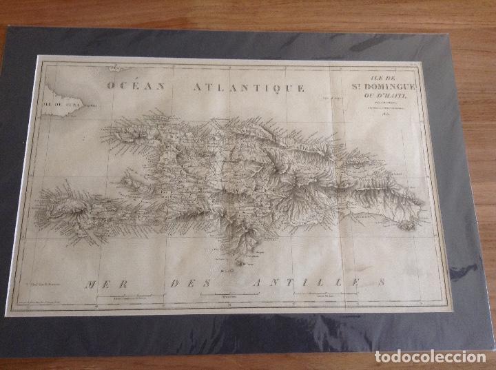 MAPA DE SANTO DOMINGO Y HAITI (Arte - Cartografía Antigua (hasta S. XIX))