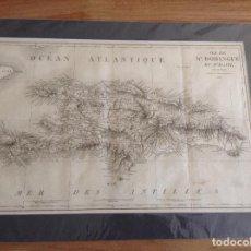 Arte: MAPA DE SANTO DOMINGO Y HAITI. Lote 196079580