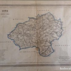 Arte: MAPA PROVINCIA DE SORIA, GASPAR Y ROIG. Lote 196084807