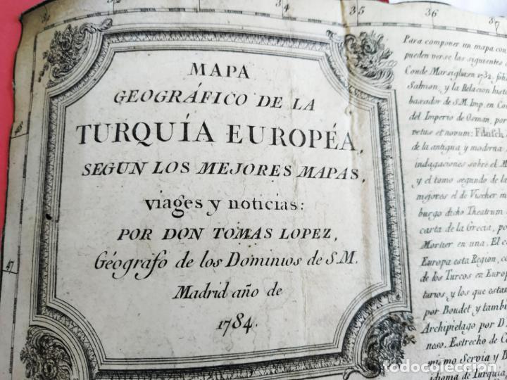 MAPA TOMAS LÓPEZ TURQUÍA EUROPEA 1784 (Arte - Cartografía Antigua (hasta S. XIX))