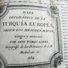 Arte: MAPA TOMAS LÓPEZ TURQUÍA EUROPEA 1784. Lote 196808921