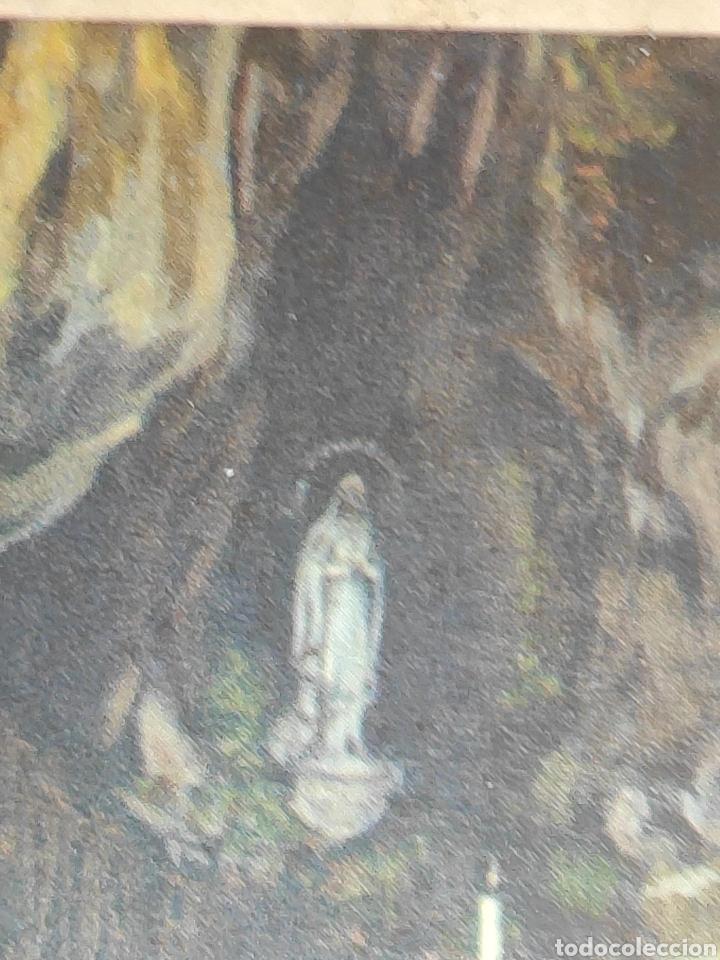 Arte: Antiguo cuadrito Lourdes - Foto 4 - 197430718