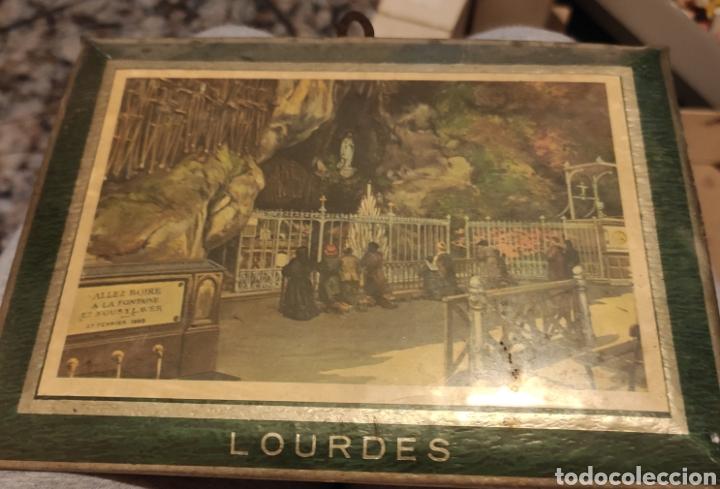 ANTIGUO CUADRITO LOURDES (Arte - Cartografía Antigua (hasta S. XIX))