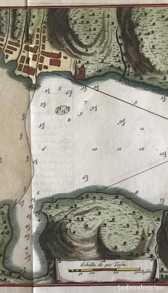 Arte: Mapa de la bahía de Portobelo (Panamá, America central), 1754. Bellin/Prevost/Schwabe - Foto 4 - 197634365
