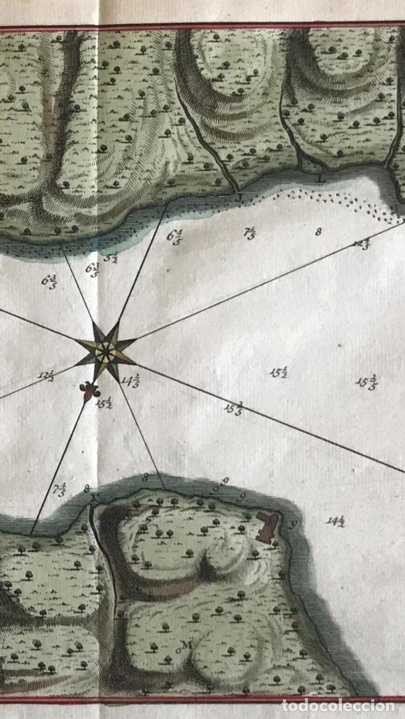 Arte: Mapa de la bahía de Portobelo (Panamá, America central), 1754. Bellin/Prevost/Schwabe - Foto 5 - 197634365