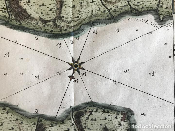 Arte: Mapa de la bahía de Portobelo (Panamá, America central), 1754. Bellin/Prevost/Schwabe - Foto 15 - 197634365