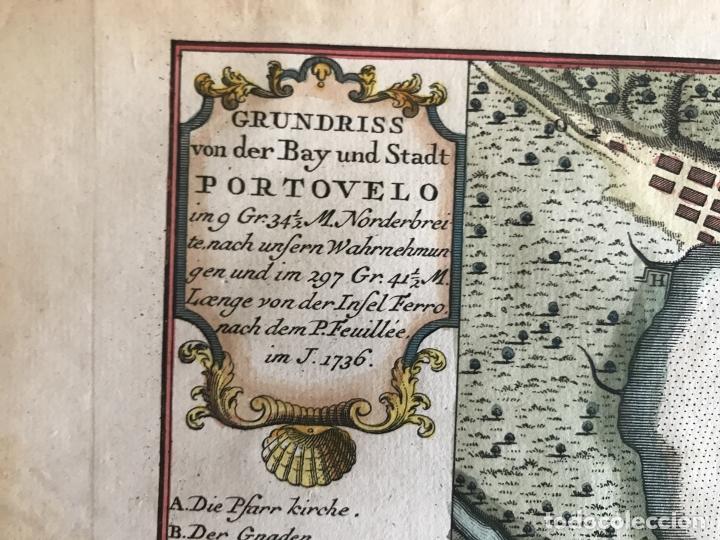 Arte: Mapa de la bahía de Portobelo (Panamá, America central), 1754. Bellin/Prevost/Schwabe - Foto 16 - 197634365