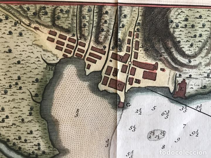 Arte: Mapa de la bahía de Portobelo (Panamá, America central), 1754. Bellin/Prevost/Schwabe - Foto 18 - 197634365