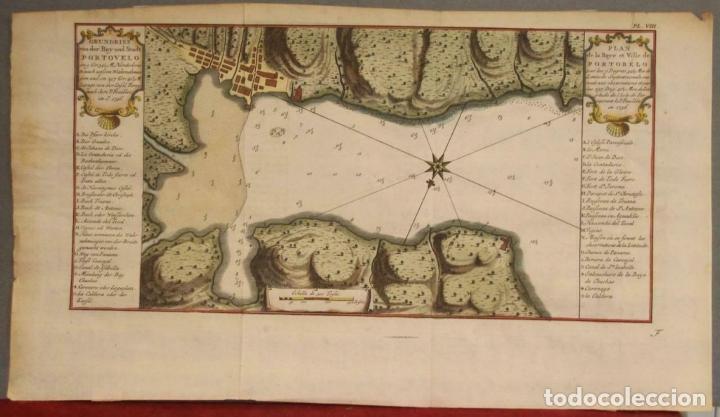 MAPA DE LA BAHÍA DE PORTOBELO (PANAMÁ, AMERICA CENTRAL), 1754. BELLIN/PREVOST/SCHWABE (Arte - Cartografía Antigua (hasta S. XIX))