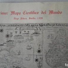 Art: PRIMER MAPA CIENTIFICO DEL MUNDO, DIEGO RIBERO, SEVILLA 1529, REPRODUCCION CARLOS SANZ. Lote 197674373