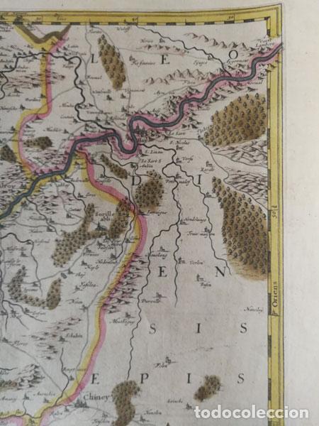 Arte: Mapa Namurcur Comitatus,1632(Amsterdam)Hondius.Namur,Charleroi,Dinant Valonia,Belgica.RioSambre,Mosa - Foto 3 - 198460270