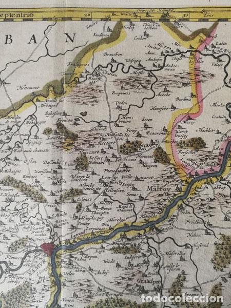 Arte: Mapa Namurcur Comitatus,1632(Amsterdam)Hondius.Namur,Charleroi,Dinant Valonia,Belgica.RioSambre,Mosa - Foto 4 - 198460270
