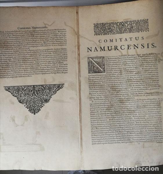 Arte: Mapa Namurcur Comitatus,1632(Amsterdam)Hondius.Namur,Charleroi,Dinant Valonia,Belgica.RioSambre,Mosa - Foto 9 - 198460270