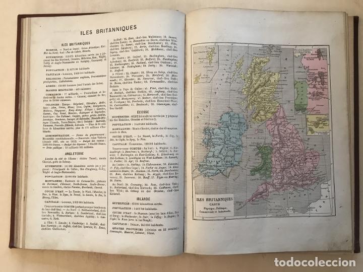 Arte: Atlas universel, hacia 1875. A. Pagès. Con 75 mapas a color - Foto 12 - 199376696