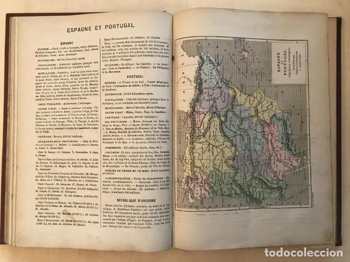 Arte: Atlas universel, hacia 1875. A. Pagès. Con 75 mapas a color - Foto 13 - 199376696