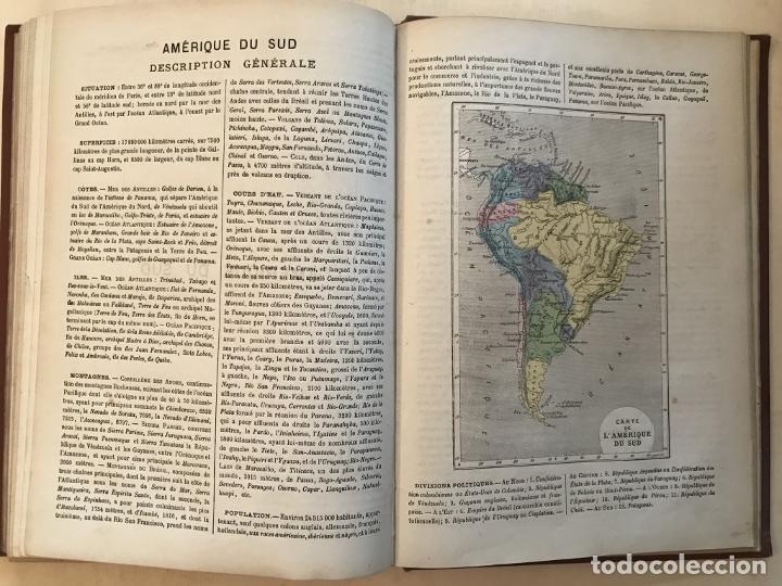 Arte: Atlas universel, hacia 1875. A. Pagès. Con 75 mapas a color - Foto 27 - 199376696