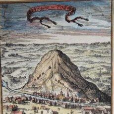 Arte: BOLIVIA, POTOSI. GRABADO EN COBRE POR MANNESSON MALLET, 1683, MONTAGNE DE POTOSI. Lote 199462055