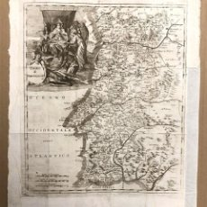 Arte: MAPA REGNO DE PORTOGALLO. REINO DE PORTUGAL. T. SALMON. C. 1750. Lote 199622806