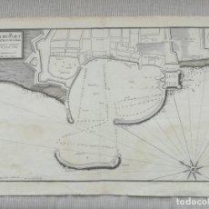 Arte: MAPA DE CIVITAVECCHIA - AYROUARD - AÑO 1732. Lote 199798552
