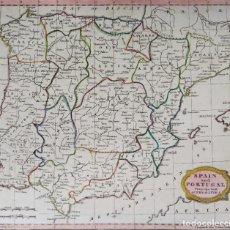 Arte: ESPAÑA Y PORTUGAL, MAPA POR J. BARLOW, 1807, SPAIN AND PORTUGAL FROM THE BEST AUTHORITIES. Lote 199829127