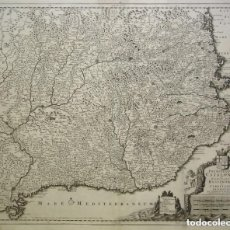 Arte: CORNELIS DANCKERTS- PRINCIPATUS CATALONIAE ET COMITATUS RUSCINONIS ET CERRETANIAE DESCRIPTIO PER COR. Lote 200124667