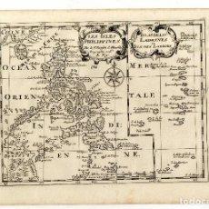 Arte: FILIPINAS, MAPA DE SANSON CON OROGRAFIA. S. XVII. MUY RARA EDICIÓN.. Lote 254857380