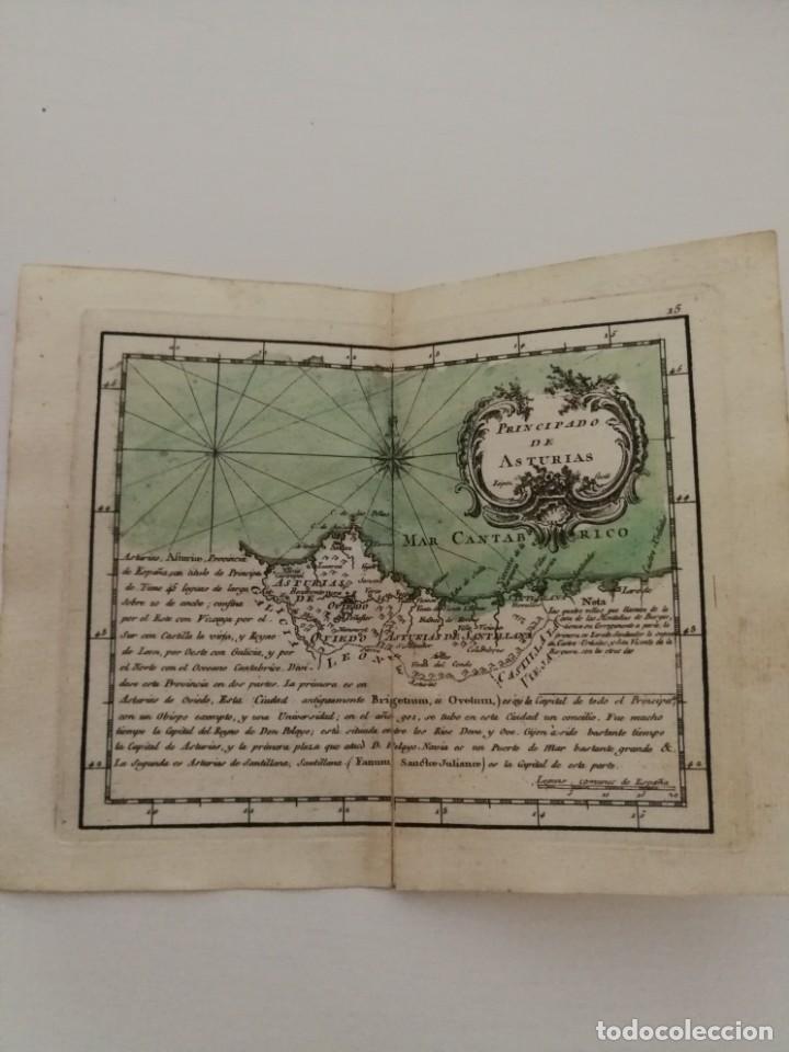 MAPA PRINCIPADO ASTURIAS,CANTABRIA.ATLAS GEOGRÁFICO REINO ESPAÑA ISLAS ADYACENTES.TOMÁS LÓPEZ.1767 (Arte - Cartografía Antigua (hasta S. XIX))
