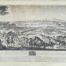 Arte: GRABADO DE BARCELONA ASEDIO 1714 - JACQUES RIGAUD 1ª EDICION - . Lote 200572607