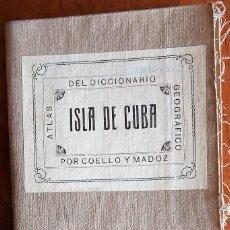 Arte: ISLA DE CUBA - ATLAS DEL DICCIONARIO GEOGRAFICO POR COELLO MADOZ AÑO 1851. Lote 203075327