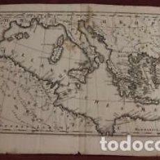 Arte: MAPA DEL MAR MEDITERRANEO (EUROPA, ÁFRICA Y ASIA), 1752. RÖSSLER. NEUE VORSTELLUNG DER KUSTEN MITTEL. Lote 203873063