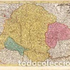 Arte: HUNGARY; M. SEUTTER / T.C. LOTTER - REGNI HUNGARIAE DELINEATIO STUDIO - CA. 1757. Lote 203880618