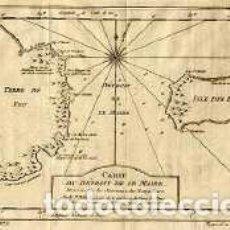 Arte: BELLIN. CARTE DU DETROIT DE LE MAIRE. TIERRA DEL FUEGO. ISLA DE LOS ESTADOS. 1753.. Lote 203882147
