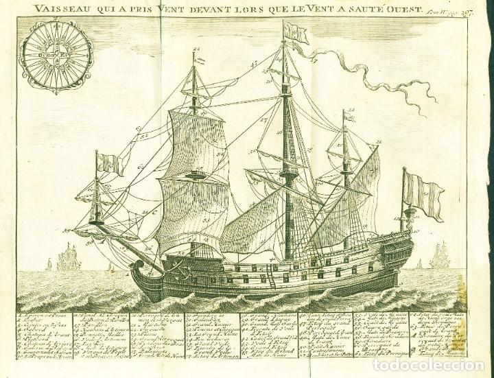 DOS GRABADOS NÁUTICOS DEL SIGLO XVIII (Arte - Cartografía Antigua (hasta S. XIX))