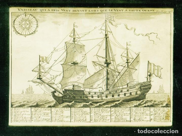Arte: Dos grabados náuticos del siglo XVIII - Foto 2 - 204457891