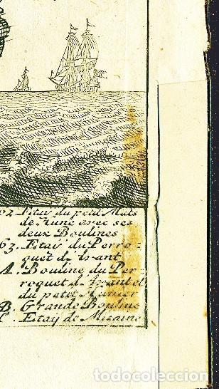 Arte: Dos grabados náuticos del siglo XVIII - Foto 4 - 204457891