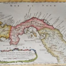 Arte: PANAMA, BELLIN, 1754, CARTE DE L'ISTHME DE PANAMA ET DES PROVINCES DE VERAGUA TERRE FERME ET DARIEN. Lote 204652751